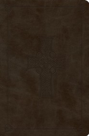 ESV Value Compact Bible, TruTone Imitation Leather, Olive with Celtic Cross Design