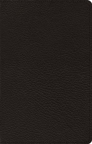ESV Omega Large-Print Thinline Reference Bible--goatskin leather, black
