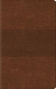 ESV Premium Gift Bible--soft leather-look, chestnut with trail design