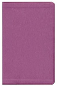 ESV Value Thinline Bible--soft leather-look, pink