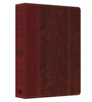 KJV Study Bible, Large Print, Leather, imitation  -     By: Christopher D. Hudson