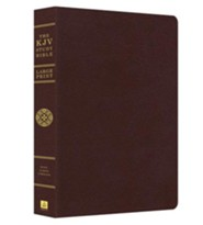 KJV Study Bible, Large Print, Leather, bonded