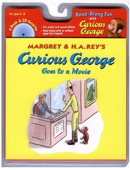 Curious George Goes to a Movie, Book and CD  -