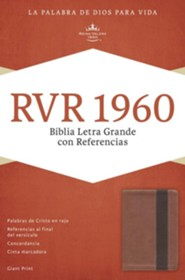 RVR 1960 Biblia Letra Grande con Referencias, cobre y marrón profundo símil piel, RVR 1960 Giant Print Reference Bible, Copper and Dark Brown LeatherTouch