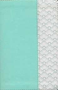 KJV Compact Ultrathin Bible--soft leather-look, mint green