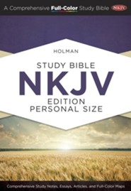 Holman Study Bible: NKJV Edition, Personal Size, Hardcover, Thumb-Indexed