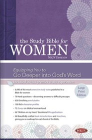 NKJV Study Bible for Women, Large Print Edition, Hardcover, Thumb-Indexed
