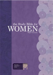 NKJV Study Bible for Women, Personal Size Edition, Plum and Lilac LeatherTouch, Thumb-Indexed
