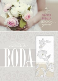 RVR 1960 Biblia Recuerdo de Boda, blanco y lino y encaje simil piel (RVR 1960 Keepsake Bride's Bible, White, Linen, and Lace LeatherTouch) - Imperfectly Imprinted Bibles