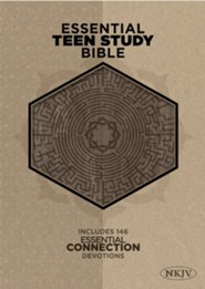 NKJV Essential Teen Study Bible, Gray Cork LeatherTouch