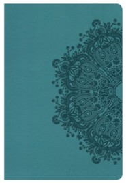 HCSB Large Print Personal Size Bible, Teal LeatherTouch, Thumb-Indexed