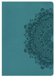 KJV Super Giant Print Reference Bible, Teal LeatherTouch, Thumb-Indexed