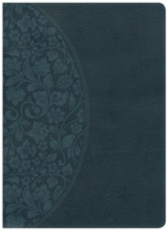 Holman Study Bible: NKJV Large Print Edition Dark Teal LeatherTouch, Thumb-Indexed