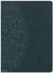 KJV Study Bible Large Print Edition, Dark Teal LeatherTouch, Thumb-Indexed