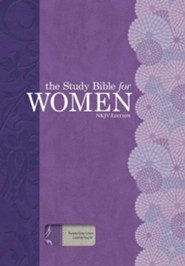 NKJV The Study Bible for Women, Purple and Gray Linen, Thumb-Indexed