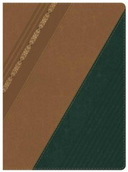 RVR 1960 Biblia de Estudio Holman, castaoo y verde bosque con filigrana simil piel con indice, RVR 1960 Holman Study Bible--soft leather-look, chestnut/forest green with filigree (indexed)