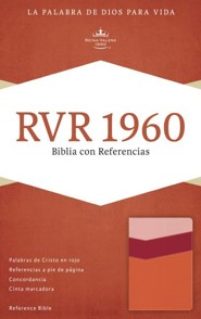 RVR 1960 Biblia con Referencias, mango y fresa y durazno claro simil piel, RVR 1960 Reference Bible--soft leather-look, mango/strawberry/light peach
