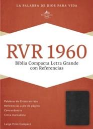 RVR 1960 Biblia Compacta de Letra Grande con Referencias, negro imitacion piel, RVR 1960 Large-Print Compact Quick Reference Bible--imitaion leather, black