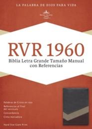 RVR 1960 Biblia Letra Grande Tamaoo Manual con Referencias, marron y tostado y bronceado simil piel, RVR 1960 Hand-Size Giant-Print Reference Bible--soft leather-look, brown/tan/bronze