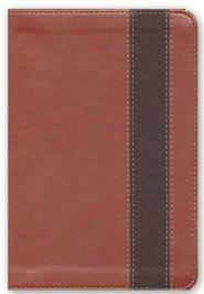 RVR 1960 Biblia Compacta Letra Grande con Referencias, cobre y marron profundo simil piel, RVR 1960 Large-Print Compact Quick Reference Bible--soft leather-look, copper/dark brown