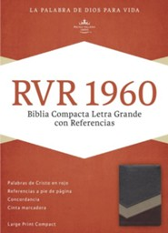 RVR 1960 Biblia Compacta Letra Grande con Referencias, marron y tostado y bronceado simil piel, RVR 1960 Large-Print Compact Quick Reference Bible--soft leather-look, brown/tan/bronze