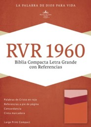 RVR 1960 Biblia Compacta Letra Grande con Referencias, mango y fresa y durazno claro simil piel, RVR 1960 Large-Print Compact Quick Reference Bible--soft leather-look, mango/strawberry/light peach