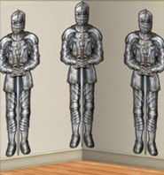 Knight Clings, set of 6