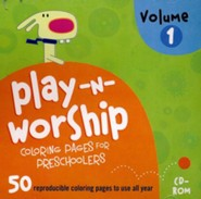 Play-n-Worship Coloring Pages for Preschoolers, Volume 1 on CD-ROM