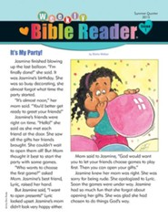 Weekly Bible Reader®, Summer 2015