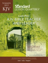 KJV Bible Teacher & Leader Large Print, Summer 2015