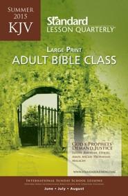 KJV Adult Bible Class Large Print, Summer 2015