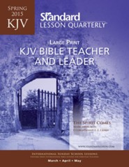 KJV Bible Teacher & Leader Large Print, Spring 2015