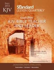 KJV Bible Teacher & Leader Large Print, Fall 2014
