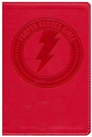 NIrV Super Heroes Backpack Bible, Red