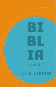 NVI/NIV Biblia bilingue - Teen Edition, NVI/NIV Bilingual Bible, Teen Edition--soft leather-look, orange/blue - Imperfectly Imprinted Bibles
