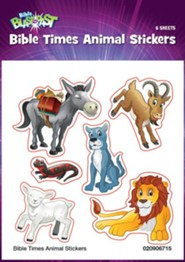 Bible Blast to the Past VBS 2015: Bible Times Animal Stickers, 6 sheets