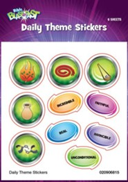 Bible Blast to the Past VBS 2015: Daily Theme Stickers, 6 sheets