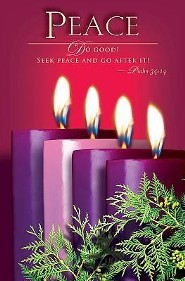 Advent Purple Sunday 4 Peace Bulletin 2014, Regular (Package of 50)