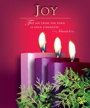 Advent Purple Sunday 3 Joy Bulletin 2014, Large (Package of 50)
