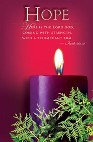 Advent Purple Sunday 1 Hope Bulletin 2014, Regular (Package of 50)  -