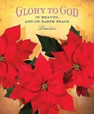 Glory To God Christmas Poinsettia Bulletin 2014, Large (Package of 50)
