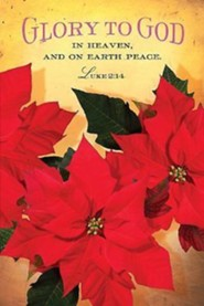 Glory To God Christmas Poinsettia Bulletin 2014, Regular (Package of 50)