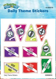 Deep Sea Discovery VBS: Daily Theme Stickers, 10 sheets