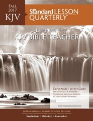 KJV Bible Teacher Large Print-Fall 2016
