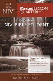 NIV Bible Student Large Print-Fall 2016