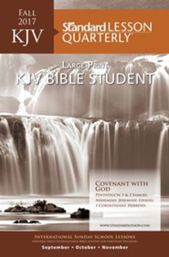 KJV Bible Student Large Print-Fall 2016