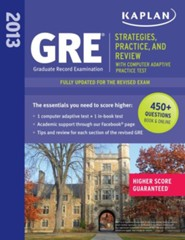 GRE 2013: Strategies, Practice, and Review