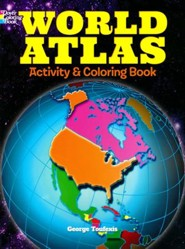 World Atlas Activity and Coloring Book