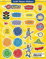 VBS 2015 G-Force: God's Love in Action - Craft Theme Stickers, 12 Sheets