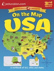 On the Map: USA Workbook, 3rd Grade